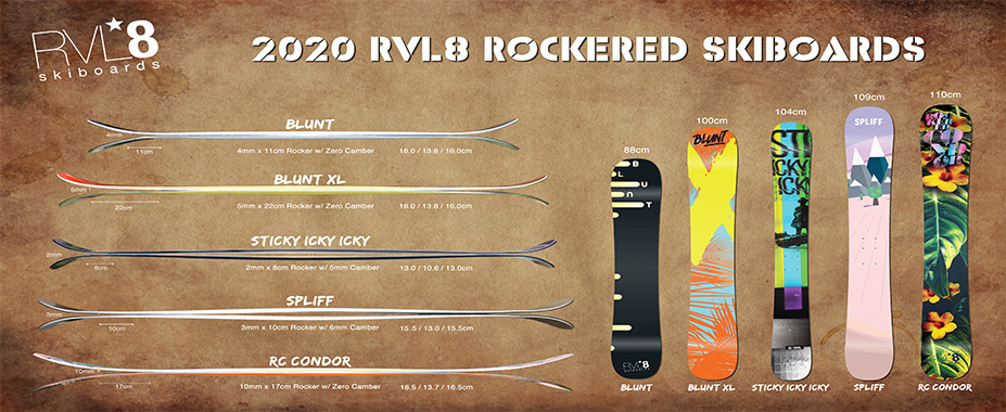RVL8 2017 Skiboards